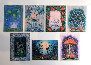 7 konstkort i paketpris